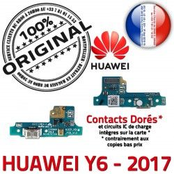 Téléphone ORIGINAL de Antenne PORT Y6 Charge Câble Huawei Microphone Micro OFFICIELLE Chargeur Prise Qualité JACK 2017 Nappe USB