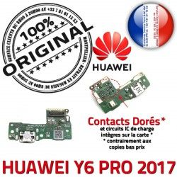 Y6 Microphone Huawei Qualité Câble Alimentation ORIGINAL Nappe Antenne Chargeur Alim USB Micro Charge 2017 JACK Prise Téléphone PRO