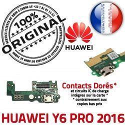 Chargeur Huawei OFFICIELLE Y6 Charge Microphone RESEAU USB ORIGINAL 2016 Qualité Prise PRO Nappe Connecteur Téléphone Antenne