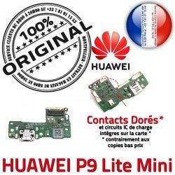 de Huawei ORIGINAL USB Mini Câble Antenne Nappe PORT Branchement Charge Lite Micro Téléphone Chargeur Qualité JACK P9 Microphone