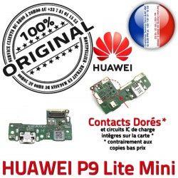 Nappe Charge Mini USB Chargeur Huawei Microphone PORT Audio LiteMini JACK Lite Qualité de Câble Antenne écouteur ORIGINAL Téléphone P9 écouteurs