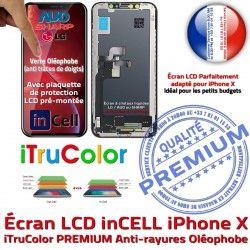 LCD Apple sur Vitre inCELL Écran iPhone Verre X Remplacement Multi-Touch Tactile Cristaux Liquides PREMIUM Touch Châssis 3D