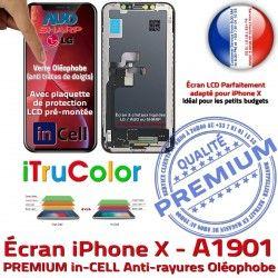 Tone Liquides 3D Affichage Super 5,8 iPhone True Tactile Vitre Apple pouces HD Retina SmartPhone PREMIUM X inCELL A1901 Cristaux