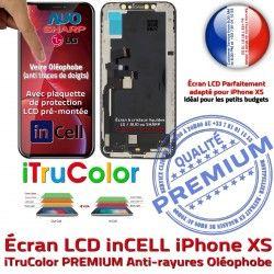 HDR iPhone Écran Liquides 3D PREMIUM Apple XS Cristaux LCD Oléophobe inCELL Multi-Touch Verre Touch Remplacement SmartPhone