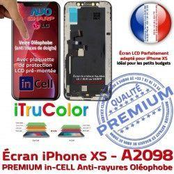 pouces iPhone Apple A2098 Vitre HD Tactile SmartPhone 5,8 inCELL Super Retina PREMIUM XS Liquides Cristaux Tone True Affichage