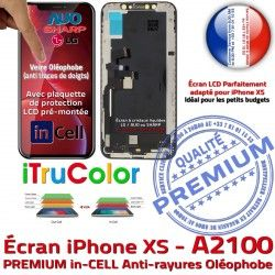 inCELL in-CELL Affichage A2100 Écran HD Qualité Apple Retina True in HDR LCD Réparation Verre Tone Tactile 5,8 PREMIUM Super iPhone SmartPhone