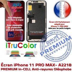 Liquides Écran Touch PREMIUM Tactile Cristaux SmartPhone iPhone inCELL Multi-Touch iTrueColor A2218 LCD Verre 3D Remplacement Apple