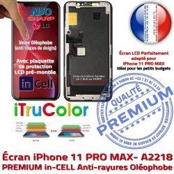 Cristaux Retina Super iPhone Liquides SmartPhone Complet Écran PRO inCELL in MAX LCD 6,5 sur Apple 11 A2218 Châssis PREMIUM Affichage