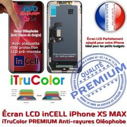 Touch MAX In-CELL XS HDR 3D Oléopho in-CELL Cristaux Retina Remplacement Liquides iPhone PREMIUM SmartPhone in Vitre Super 6,5 Écran LCD