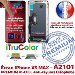 iPhone XS Vitre MAX pouces SmartPhone PREMIUM Apple 6,5 Liquide Retina Cristaux inCELL A2101 Affichage Tone Super Écran LCD True