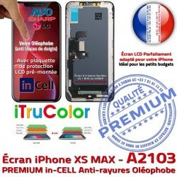 SmartPhone Tactile LCD Tone PREMIUM Multi-Touch iTrueColor in-CELL inCELL iPhone Oléophobe Affichage True HDR LG Apple A2103 Verre Écran