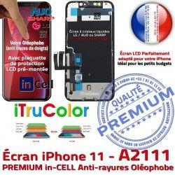 sur Vitre LCD iPhone 11 Apple Retina inCELL Châssis Liquides Affichage 6,1 True Cristaux A2111 Tactile PREMIUM in SmartPhone Tone