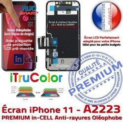 PREMIUM Tone sur Affichage iPhone Écran 6,1 Châssis LCD A2223 Cristaux Apple SmartPhone True Liquides Vitre Retina inCELL 11 in