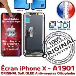 Écran KIT Verre sur Apple soft iPhone Assemblé Châssis OLED Touch Complet ORIGINAL SmartPhone Remplacement A1901 Multi-Touch 3D