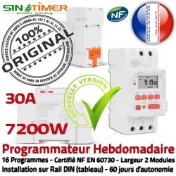 7200W Minuteur Heures 30A Automatique Creuses Rail Commutateur Jour-Nuit SINOTimer Hebdomadaire Programmateur Cumulus 7kW Electronique DIN