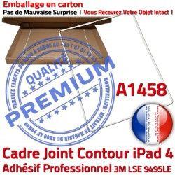 Réparation Joint Châssis B Autocollant Plastique Adhésif Tactile Tablette Blanc Contour Cadre iPad Apple ABS Vitre 4 Ecran A1458