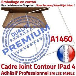Plastique Autocollant Adhésif Contour Blanc Châssis Tactile ABS Réparation Tablette B iPad Ecran Apple Cadre Joint A1460 4 Vitre