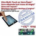 iPad3 Apple A1403 Noir Oléophobe iPad Remplacement Fixation Vitre Tactile Adhésif 3 Qualité HOME PREMIUM Verre Ecran Caméra Bouton Precollé