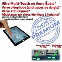 iPad3 Apple A1430 Noir Adhésif Precollé Bouton Remplacement HOME Oléophobe PREMIUM Tactile Vitre 3 Verre Qualité iPad Ecran Fixation Caméra
