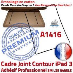 Tactile Precollé Contour Autocollant Joint Noir Châssis Cadre Adhésif A1416 3 N Plastique Ecran iPad Réparation Tablette Apple Vitre