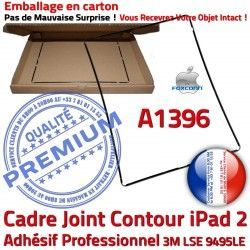 Tablette Vitre Adhésif Plastique Noir Apple Cadre Precollé Tactile Contour N Joint 2 Ecran Réparation A1396 Châssis iPad Autocollant