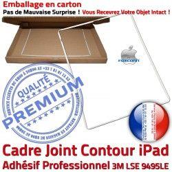 Plastique Tablette Precollé Cadre Joint Apple Vitre Châssis B Réparation Autocollant Blanc Adhésif Contour ABS iPad Tactile Ecran
