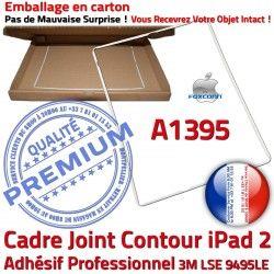 2 Contour Autocollant Apple Tactile Tablette Plastique iPad Adhésif Joint Châssis ABS A1395 Blanc Ecran B Vitre Cadre Réparation