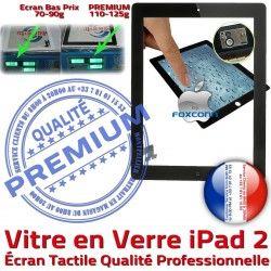 Qualité PN Remplacement Noir Oléophobe Bouton Caméra Ecran Apple HOME A1396 Adhésif A1397 iPad2 Nappe 2 Precollé Tactile Vitre Fixation Verre PREMIUM iPad A1395