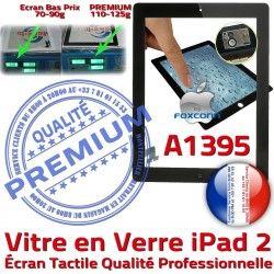 Qualité Noir A1395 Vitre iPad2 Tactile Fixation Verre HOME Caméra 2 Oléophobe Precollé Ecran Apple PREMIUM Bouton iPad Remplacement Adhésif