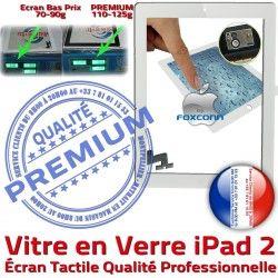 A1395 A1396 PB Apple Bouton Verre Qualité Oléophobe A1397 Ecran Remplacement Tactile Blanc Nappe Vitre HOME PREMIUM Fixation Adhésif Caméra Precollé 2 iPad2 iPad