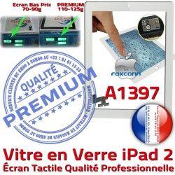 A1397 Tactile Apple Caméra iPad2 2 HOME Blanc Oléophobe Verre Precollé iPad PREMIUM Adhésif Remplacement Fixation Ecran Bouton Qualité Vitre