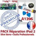 PACK iPad2 A1396 B PREMIUM Verre Bouton Démontage Oléophobe 2 Adhésif HOME Precollé Qualité iPad Vitre Outils Réparation KIT Blanche Tactile