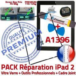 Verre Tactile Vitre PACK iPad iLAME N Outils Apple Chassis Adhésif HOME Tablette Bouton 2 A1396 Noire Cadre iPad2 Joint Réparation Precollé KIT