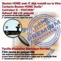 iPad Mini1 A1432 A1454 A1455 N Vitre Ecran Nappe Verre Réparation Filtre Tactile Oléophobe Caméra Tablette Monté MINI Home Adhésif Noir Bouton Fixation 1