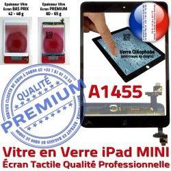 Réparation Monté Ecran Mini1 Filtre iPad Verre Bouton Fixation Caméra Nappe Tactile Home Noir Adhésif Tablette Vitre Oléophobe A1455
