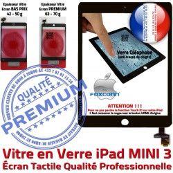 Home Filtre Mini3 Adhésif Ecran Bouton A1600 iPad Verre Oléophobe A1599 Réparation Vitre Monté MINI Caméra 3 Tactile Noir Tablette Nappe Fixation