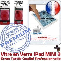 Adhésif Bouton Monté Vitre Réparation Verre Oléophobe 3 A1599 Ecran iPad Mini3 Home Blanc Caméra Fixation Filtre A1600 MINI Tablette Nappe Tactile