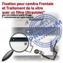 iPad Mini3 A1601 Blanc PREMIUM Vitre Oléophobe Tablette Réparation Bouton Adhésif Verre Caméra Fixation Filtre Nappe Tactile Ecran
