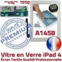 iPad4 Apple A1458 Blanc Vitre PREMIUM Ecran Tactile iPad Bouton Oléophobe Caméra HOME Verre Adhésif Fixation 4 Qualité Precollé Remplacement