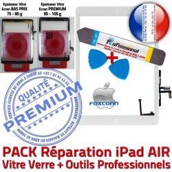Qualité PREMIUM Tactile iPad Outil KIT AIR B Precollé A1474 Tablette HOME Vitre Nappe Démontage Réparation PACK Blanche Bouton A1475 Verre A1476 Adhésif