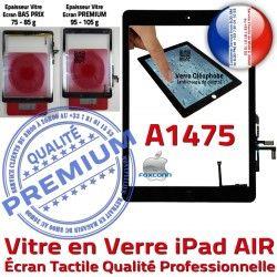 Réparation Verre Adhésif IC iPad Monté Oléophobe Tactile A1475 Noir Fixation Tablette Caméra AIR Vitre Qualité Nappe Ecran HOME