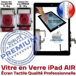 5 Oléophobe Noir Bouton Vitre Caméra AIR Tactile Réparation Nappe Fixation Adhésif Qualité Tablette Ecran iPad HOME Monté iPad5 Verre