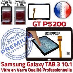 Qualité Vitre Samsung TAB3 Ecran Verre Assemblée Galaxy N Prémonté LCD Supérieure Noire en Tab3 Tactile Adhésif 10.1 PREMIUM GT-P5200
