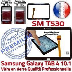 LCD Tactile PREMIUM TAB4 Noire SM-T530 SM Supérieure TAB en Adhésif Ecran Vitre Samsung Galaxy T530 10.1 N Prémonté 4 Verre Assemblée Qualité