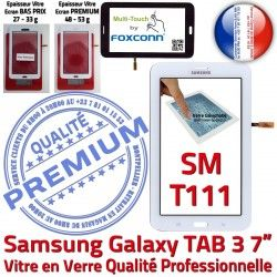 Qualité Galaxy Prémonté 7 B Adhésif Ecran Vitre T111 3 Samsung LCD Tactile SM SM-T111 Assemblée TAB en Supérieure TAB3 Verre Blanche PREMIUM