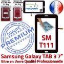 Samsung Galaxy SM-T111 Tab3 N LCD PREMIUM Ecran 7 Vitre Noire Assemblée TAB3 Tactile Prémonté en Verre Qualité Adhésif Supérieure