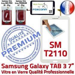 B PREMIUM LCD TAB3 Assemblée Samsung Supérieure Blanche Tab3 Prémonté 7 Adhésif en Tactile Vitre Galaxy Ecran SM-T2110 Verre Qualité