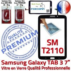 LCD N Adhésif PREMIUM en Noire Qualité Prémonté T2110 Verre Ecran Tactile 3 SM-T2110 Samsung Vitre Supérieure TAB3 SM 7 TAB Assemblée Galaxy