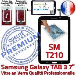 LCD Supérieure Samsung Qualité Tab3 SM-T210 Assemblée Vitre Adhésif en Ecran 7 Noire Prémonté N Galaxy TAB3 Tactile PREMIUM Verre