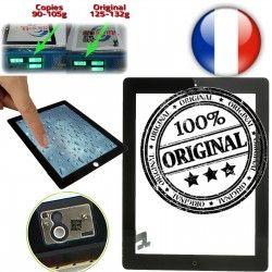 Ecrans iPad Tactiles Oléophobe Bouton A1397 épais Verre 10 Vitres en Prémontés plus A1395 Originale Home iPad2 P1 Apple 2 Multi-Touch A1396 Version Adhésif